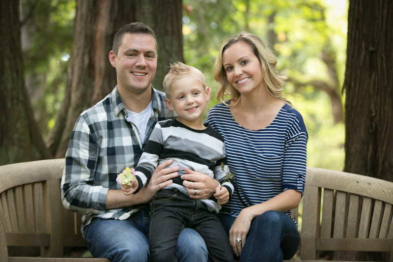 Botanical Gardens Bellevue Family Portrait Photography