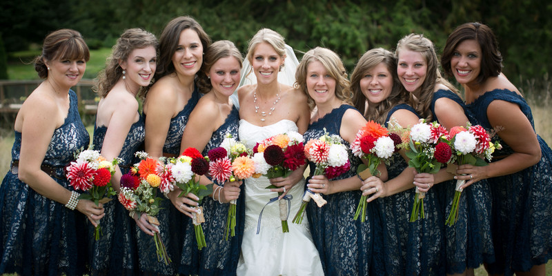 Bridesmaid Dresses at Tazer Valley Farm | Stanwood