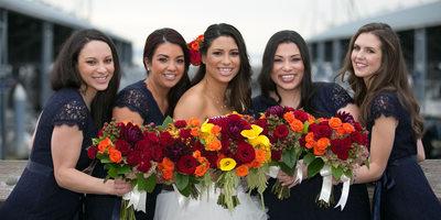 Bridesmaids at Edmonds Yacht Club