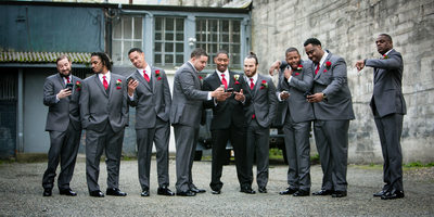 Monte Cristo Ballroom Wedding Photography Groomsmen