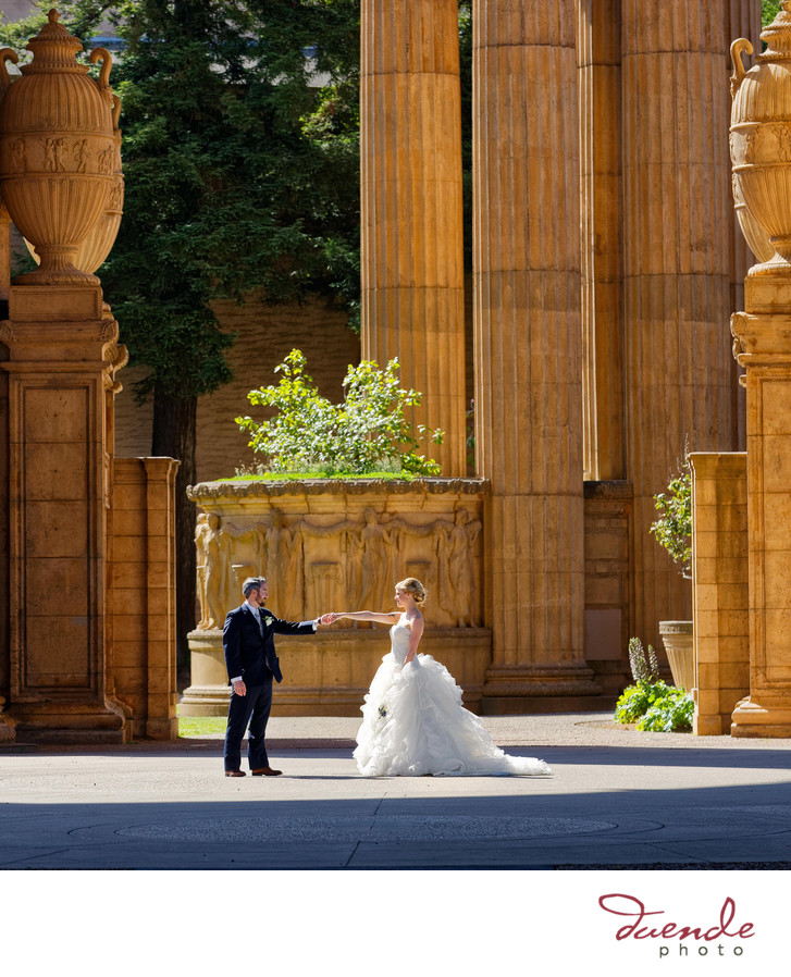 Bride and Groome at the Palace of Fine Arts