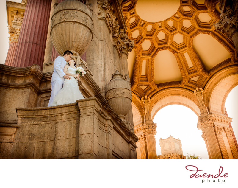 Cantonese Bride and Groom Palace of Fine Arts San Francisco