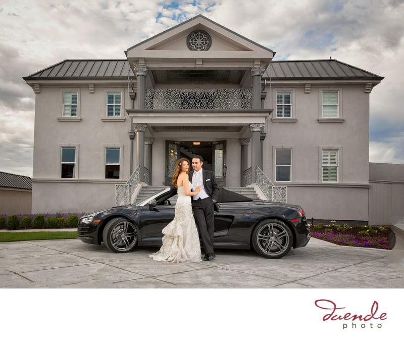 Bride and Groom Audi Race Car