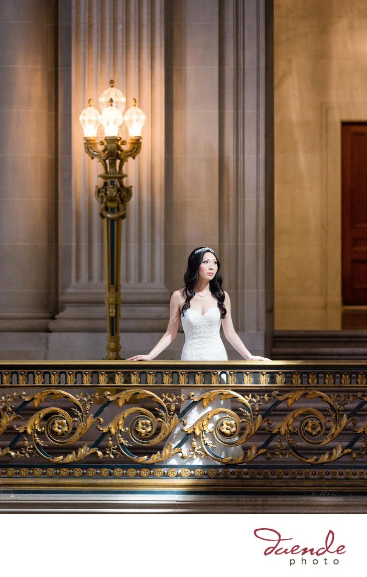 City Hall Bride looks like and angel