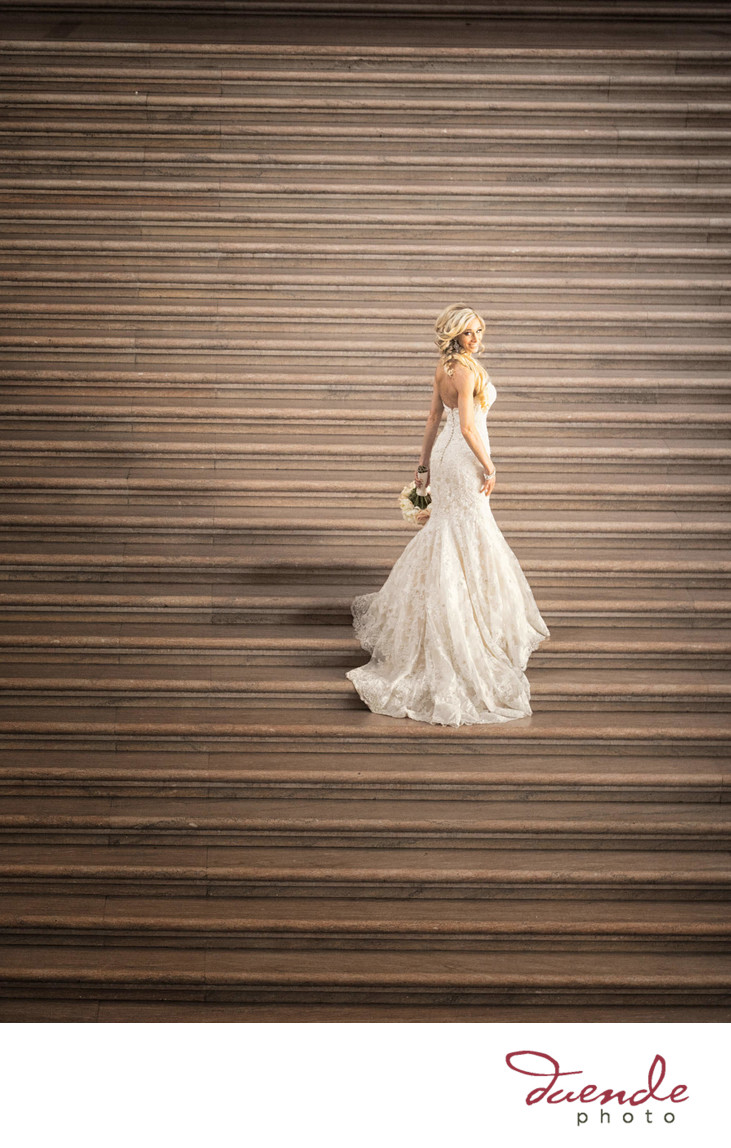 Bride on Steps