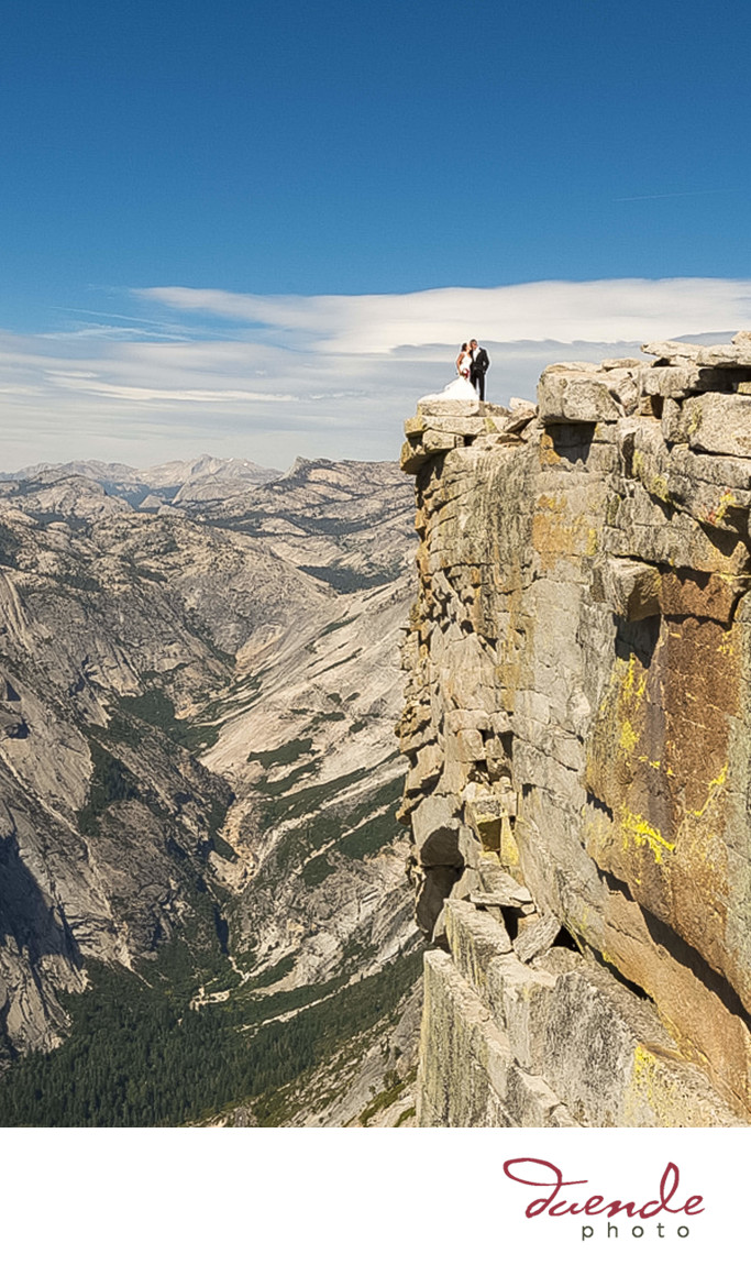 Couple Married on top of Half Dome
