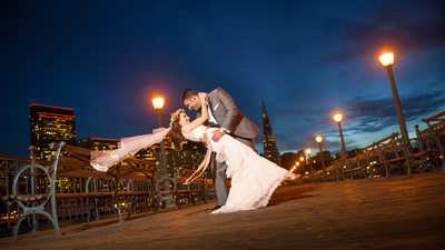 Bride and Groom on pier 7