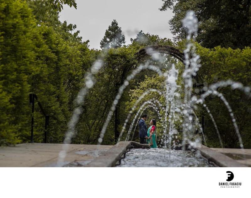 Morris Arboretum engagement photographer