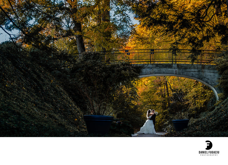 Longwood Gardens bridal session photos