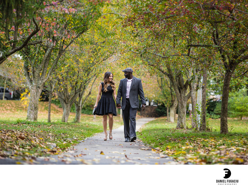 Fall engagement session photographer