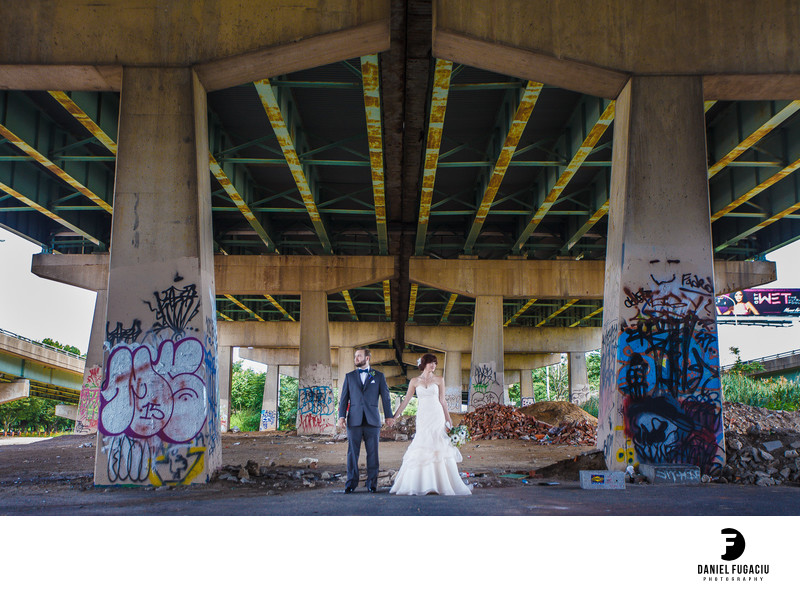 FDR Skatepark bridal photography