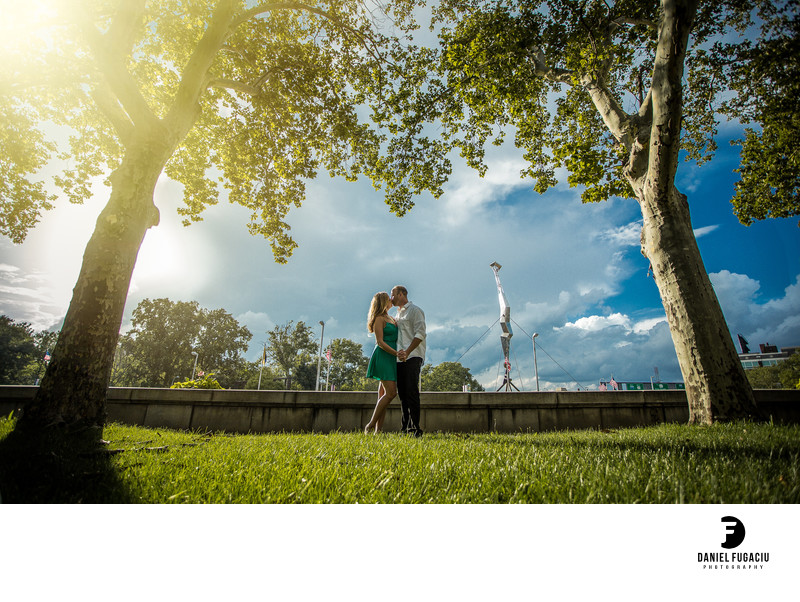 Franklin Square engagement photography