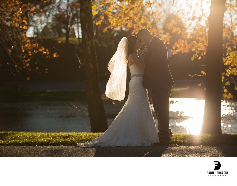 Sunset bridal photography