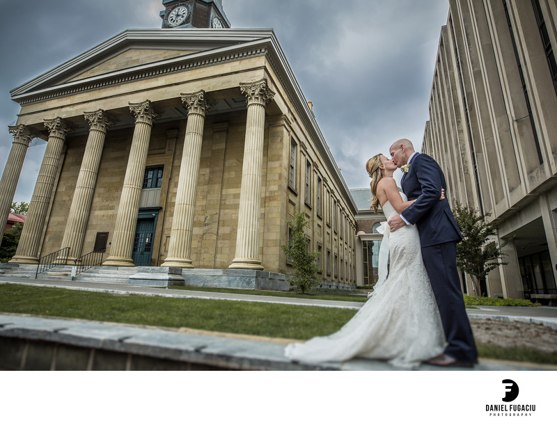 West Chester Old Courthouse bridal portrait
