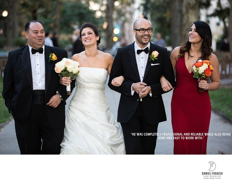 Rittenhouse Square bridal party fun