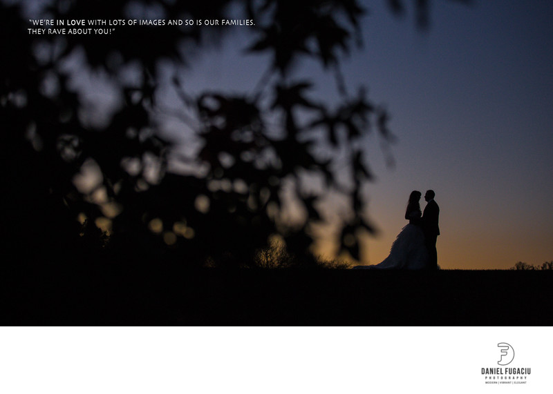 Longwood Gardens wedding photographer - silhouette