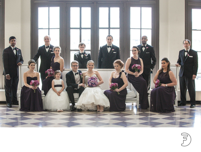 Berkeley Oceanfront Hotel bridal party photo