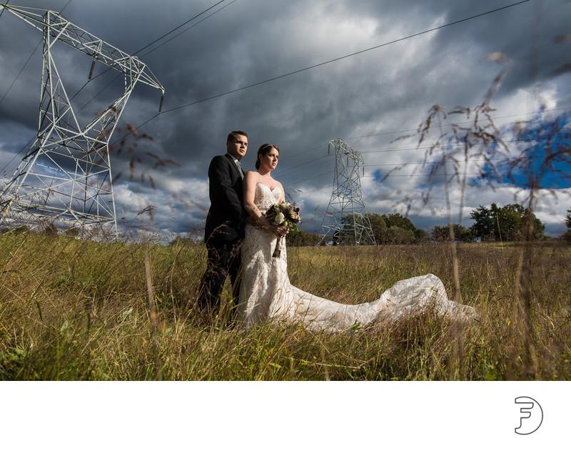 CHESTER VALLEY GOLF CLUB WEDDING Cloudy Portrait