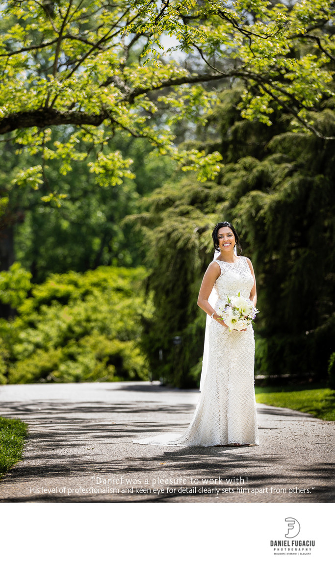 Tyler Arboretum bride photography