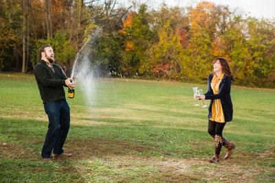Belmont Plateau engagement photos