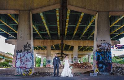 FDR Skatepark bridal photography