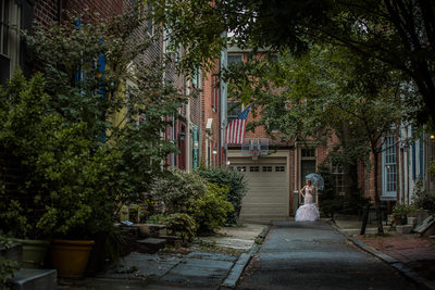 Old City Philadelphia portrait of the bride