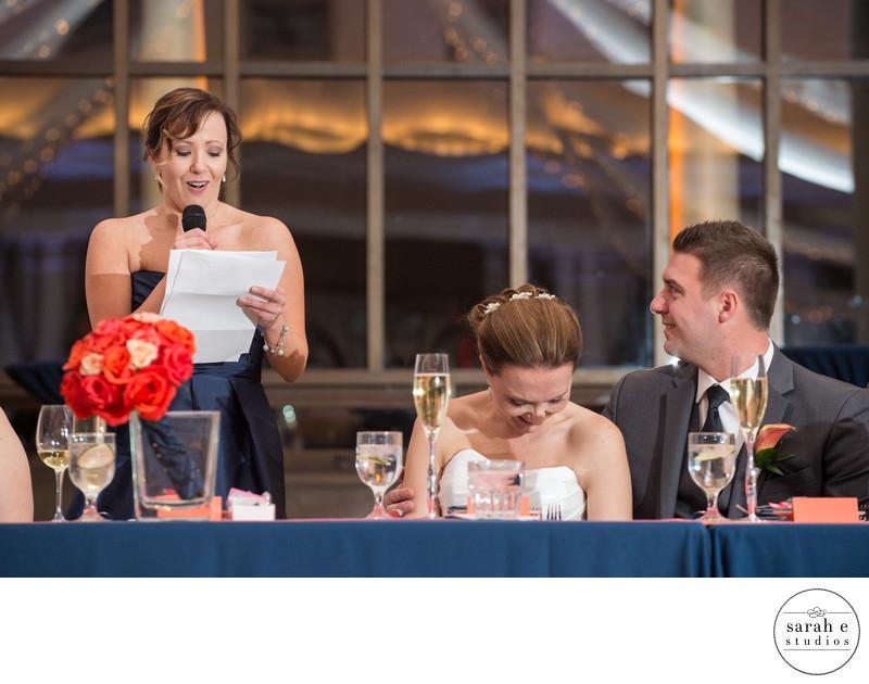 St. Louis Wedding Photographer Capturing Bridesmaid Toast