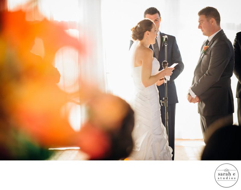 Bride Reading Groom Vows