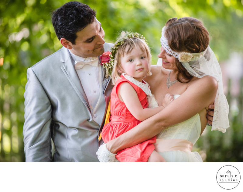 Portrait with Flower Girl at Lemp Mansion