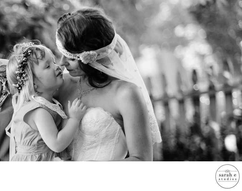 Mom and Daughter Portrait at St. Louis, MO Wedding