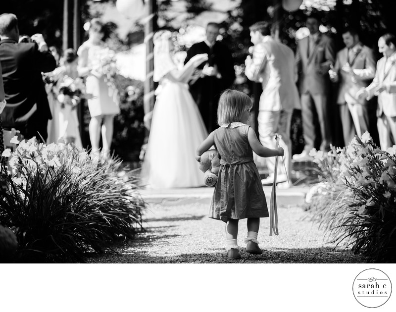 Cute Flower Girl Moment at Lemp Mansion Wedding