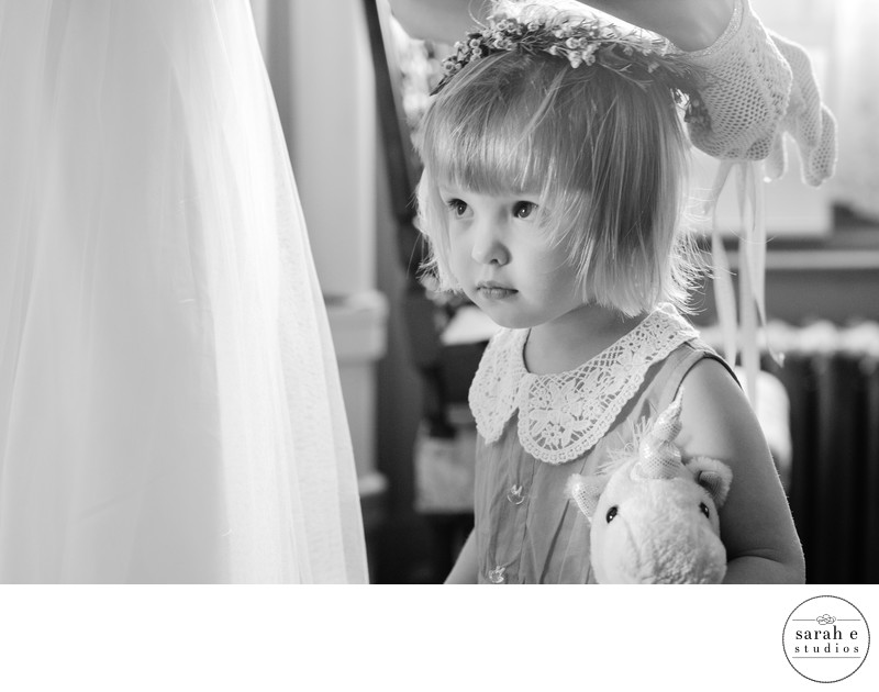 Candid St. Louis Photo of Flower Girl