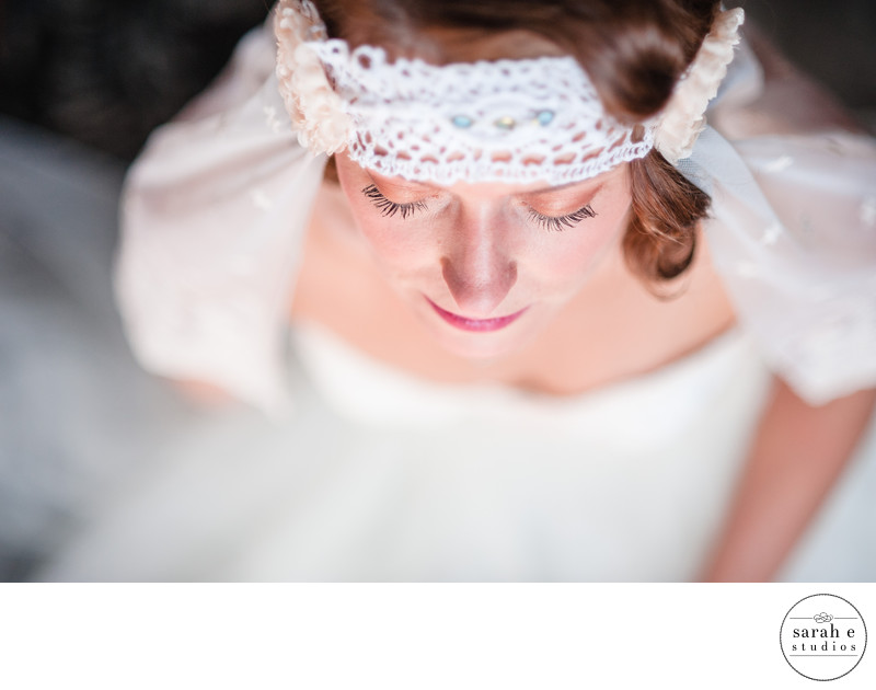Quiet Moment for Bride in St. Louis Wedding