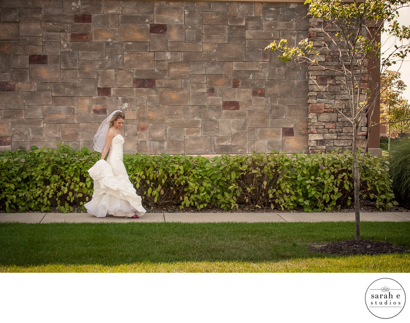Unique Bridal Portrait Before First Look in St. Louis, MO at a Hotel
