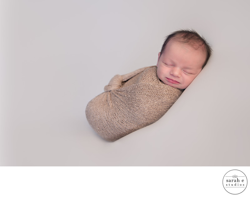 Newborn in Foristell Wrapped in Gold