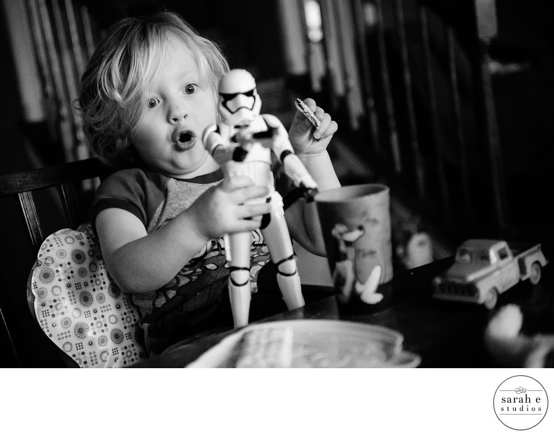 Family Documentary Pics with Star Wars Storm Trooper