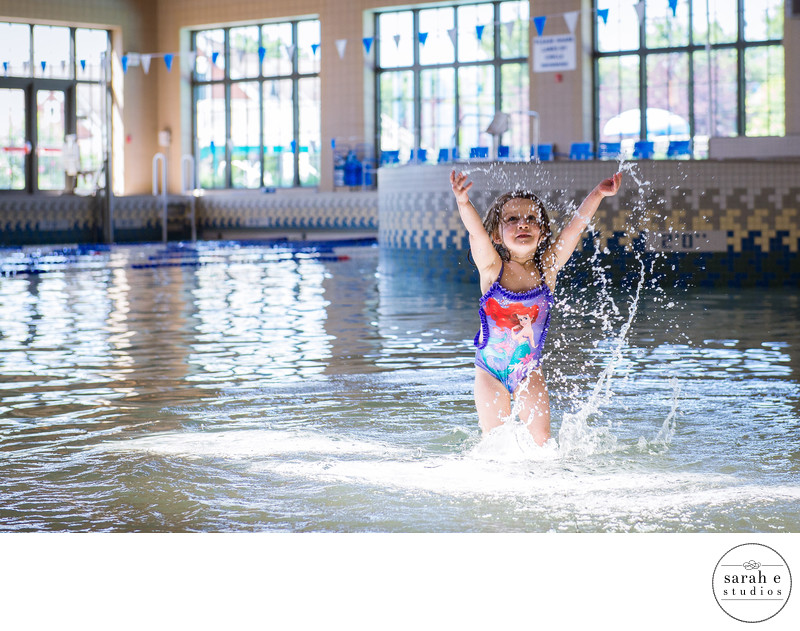 Storytelling Image of Toddler Girl at Swim Lessons