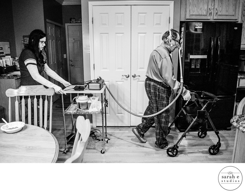 Role reversal for a child and parent suffering from ALS