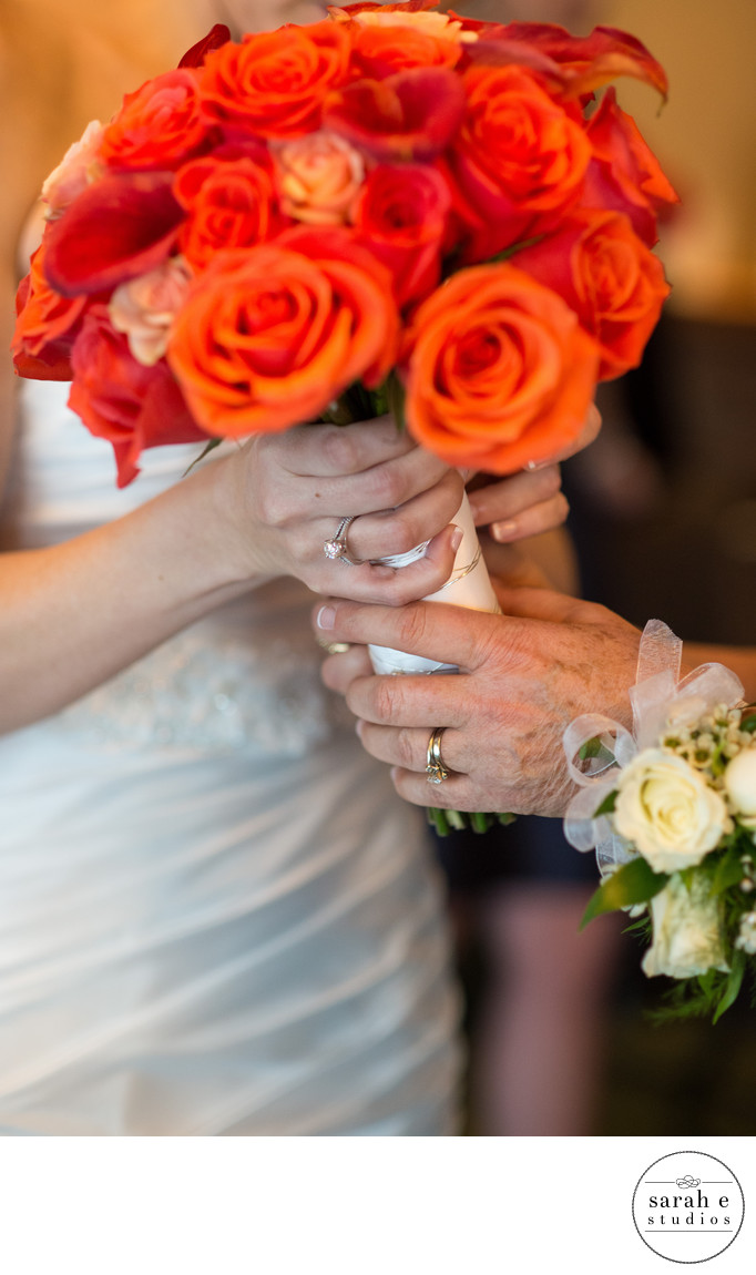 Bouquet Pic in Bride's Hand in St. Louis