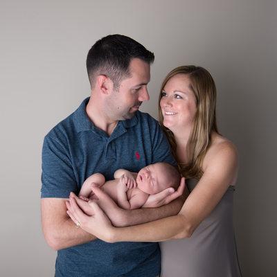 St. Louis Newborn Family Portrait