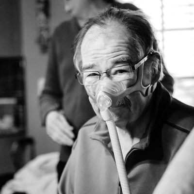 Portrait of Larry Tyler with ALS by Sarah Howell as St. Louis photographer FOX news