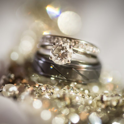 diamond wedding ring detail photographer broward Fl