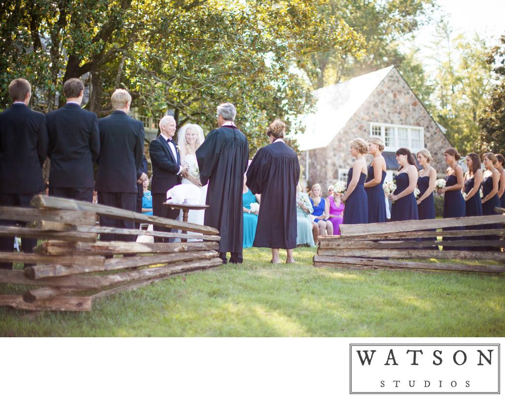 Outdoor Wedding Ceremony at Blackberry Farm