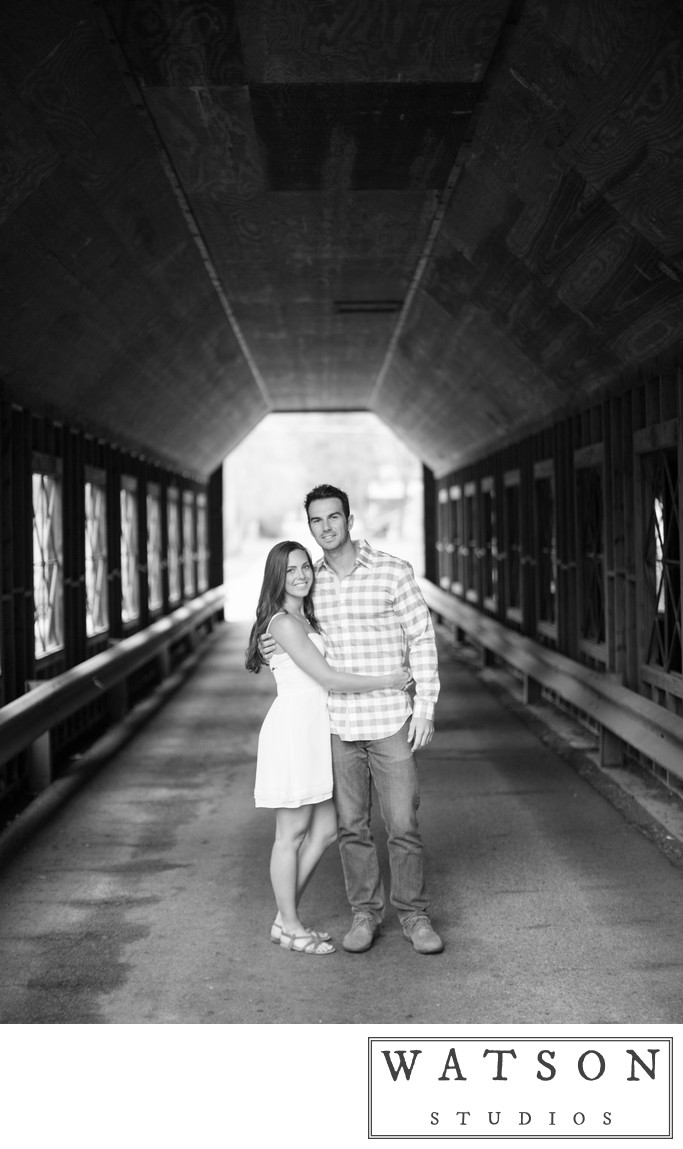 Covered Bridge Engagement Photos