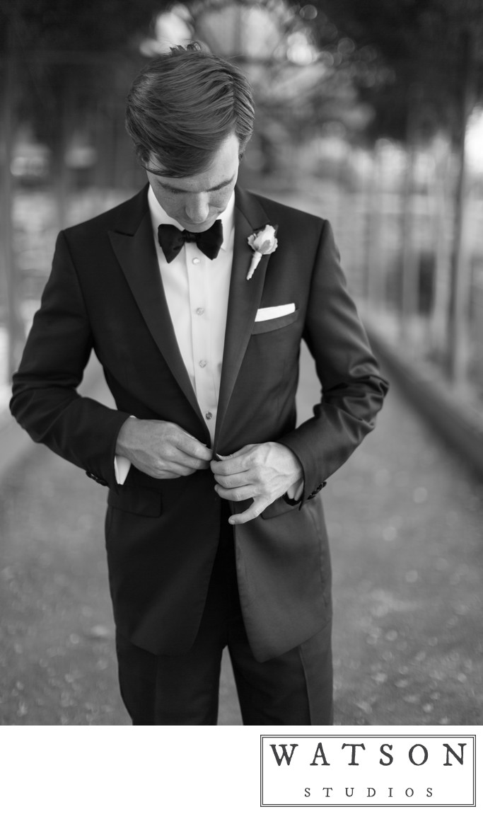 Black and White Wedding Photos of Grooms