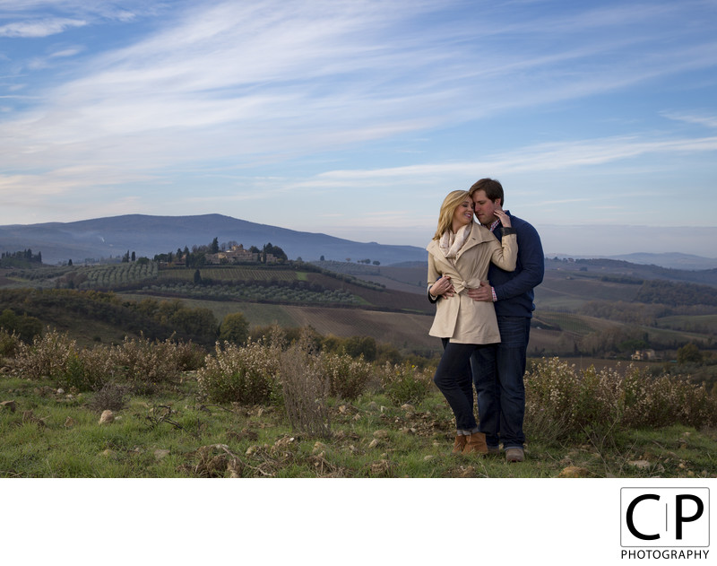 Kyle and Courtney Italy Destination Engagement Session