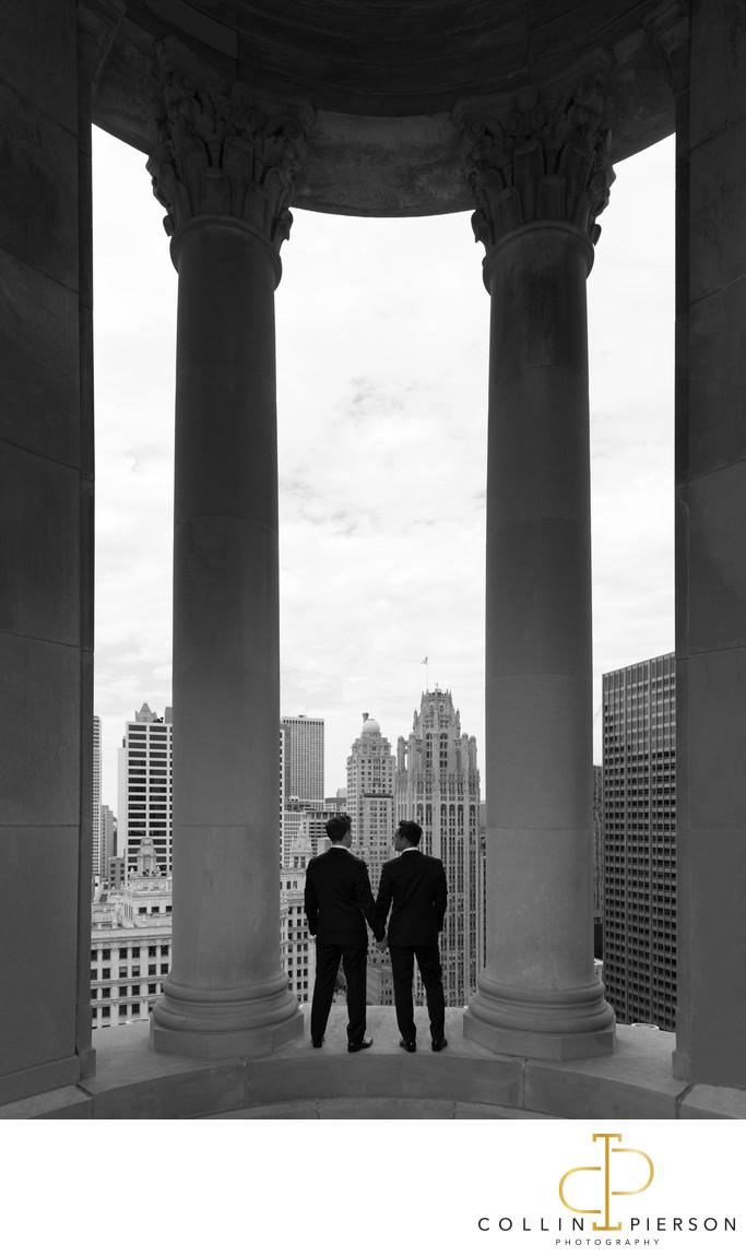 Diarmuid Moran and Omar Castro London House Chicago Wedding