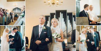 Bryllupsfotograf vielsen og derefter