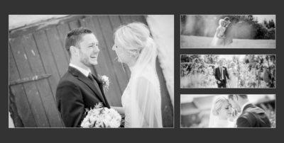 Bryllupsfotograf smukke portrætter i sort hvid