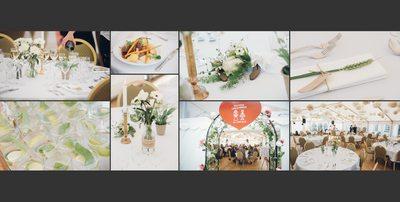 Bryllupsfotograf - detaljer fra bordet